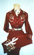 Western embroidered suit