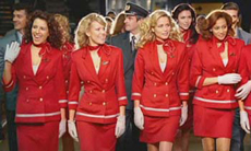 Red suits for Virgin Atlantic Commercial
